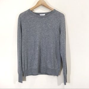 Equipment Grey Cashmere Crewneck Sweater Large